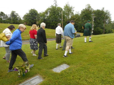 Following The Piper To The Memorial
