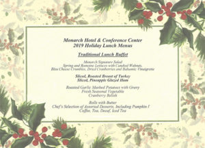 2019 Annual Christmas Lunch Menu